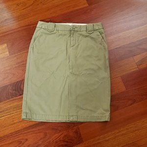 GAP Green Cotton Khaki Pencil Skirt Size 6